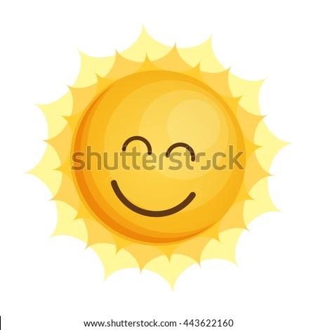 Sun Icon Flat Vector. - stock vector