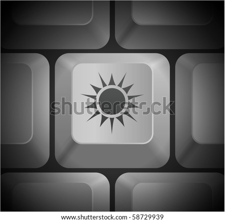 Sun Icon On Computer Keyboard Original Stock Vector 58729939