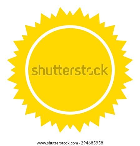 Sun icon on white background. Vector illustration.