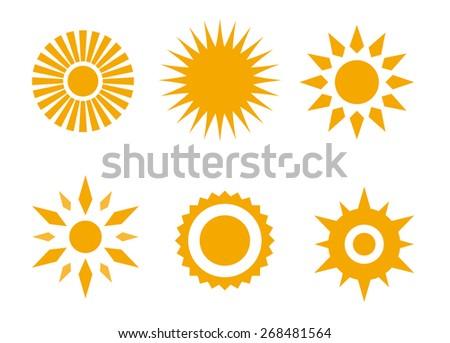 sun icon orange design - stock vector
