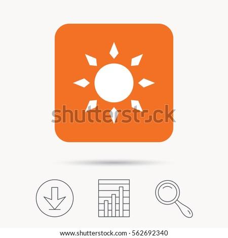 Sun Icon Sunny Weather Symbol Report Stock Vector 562692340