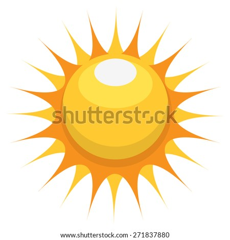 Sun Icon. Vector - stock vector
