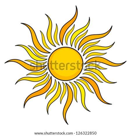 Нарисованное знаками солнце
