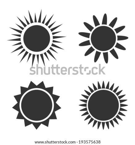 Sun icons. Vector illustration - stock vector