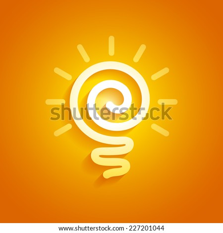 Sun light bulb. Eps8. RGB. Organized by layers. Global colors. Gradients used. - stock vector