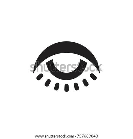 Sun Light One Eye Symbol Logo Stock Vector 757689043 Shutterstock