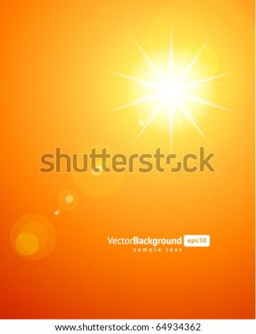 Sun light vector background - stock vector