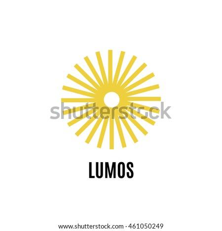 Sun Line Art Logo Sun Vector Stock Vector 461050249