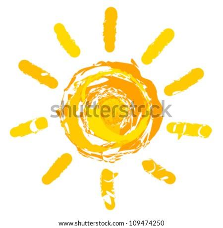 Sun logo. Vector illustration - stock vector