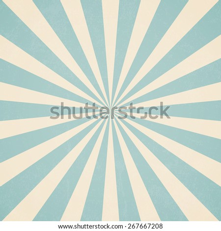 Sun rays, Old paper with stains - Vector - stock vector