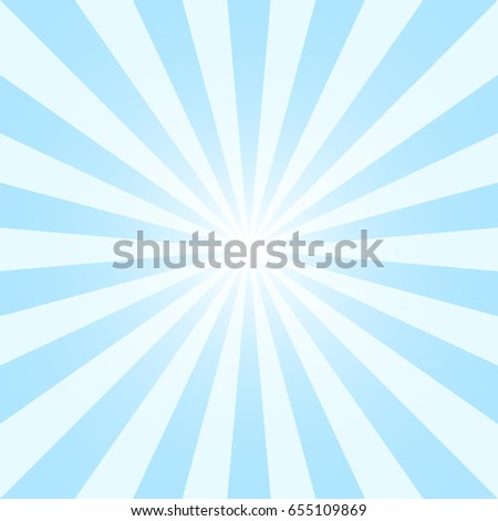 Illustration Abstract Blue Sky Background Sun Rays Shine Vibrant ...