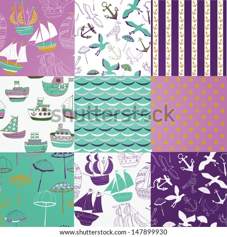 Sun&Sea Collection - stock vector