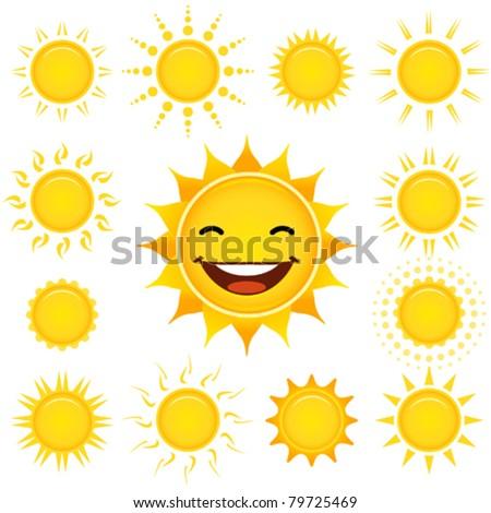 Sun Set - stock vector