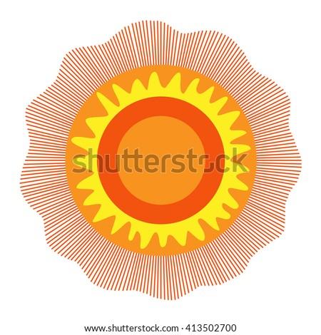 Sun, Sun Icon. Sun Icon Vector. Sun Icon Art. Sun Icon Image. Sun Icon logo. Sun Icon Flat. Sun icon web. Sun icon Drawing.  - stock vector