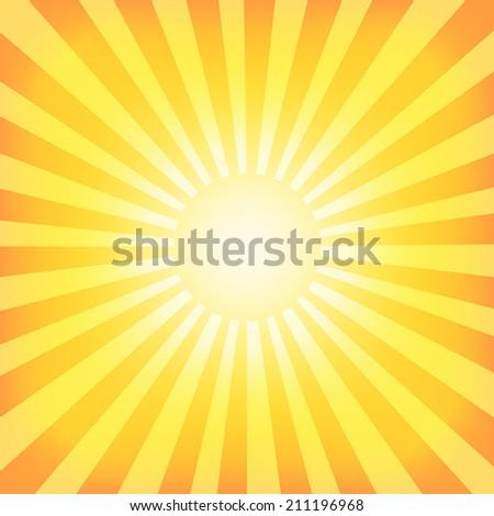 Sun Sunburst Pattern. Retro Background. Vector illustration - stock vector