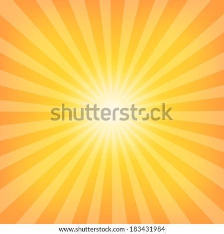 Sun Sunburst Pattern. Vector illustration - stock vector