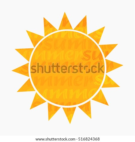 Sun symbol icon. Vector illustration