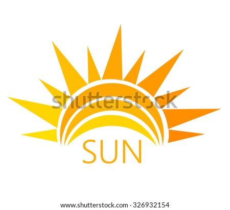 Sun symbol. Vector illustration - stock vector