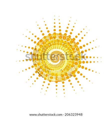 sun. Vector - stock vector