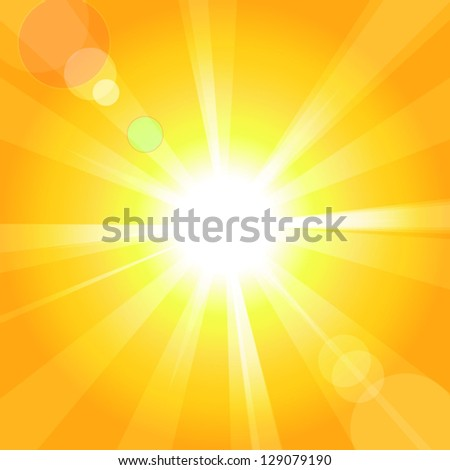 Sun. Vector illustration.