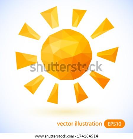 Sun vector illustration. - stock vector