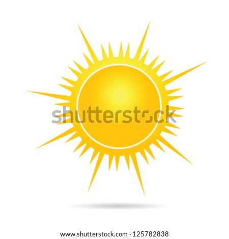 sun vector illustration in yellow part one - stock vector
