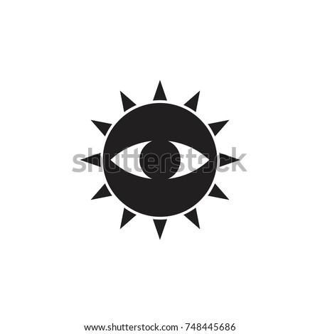 Sun One Eye Symbol Logo Vector Stock Vector Hd Royalty Free