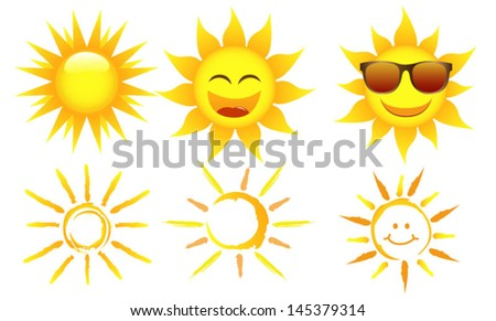 Sun with rays - stock vector