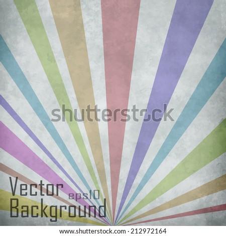 Sunbeams background. Vector background. - stock vector