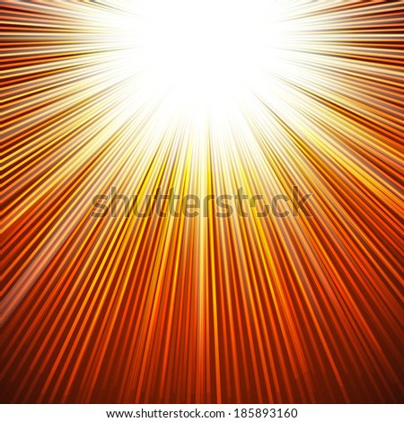 Sunbeams dawn or rise  abstract vector illustration background