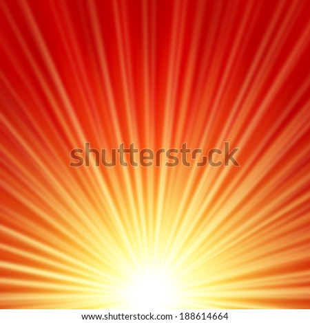 Sunbeams dawn or rise  abstract vector illustration background - stock vector