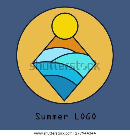 Sunblock vector logo design template - stock vector