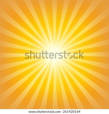 Sunburst Background - stock vector