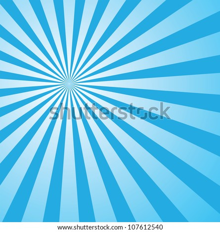 sunburst background for retro design, vector format in epsv10, sunburst patterns are free to be moved around and adjusted. - stock vector
