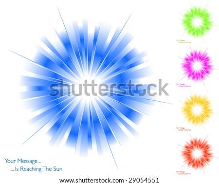 Sunburst collection 6/6 - stock vector