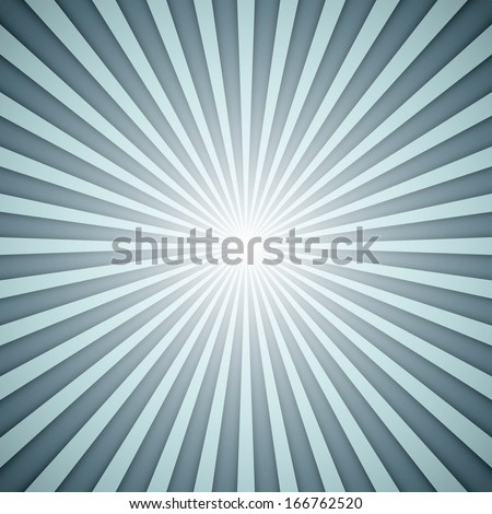 Sunburst grey and blue vector background with shadow effect. - stock vector