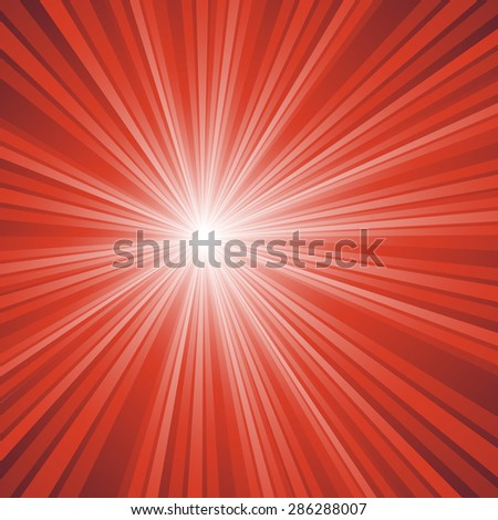 Sunburst light background with red lines