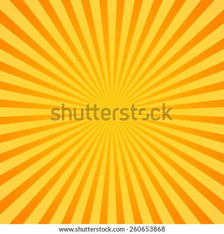Sunburst, Rays, Beams. Glowing, radiant backdrop - stock vector
