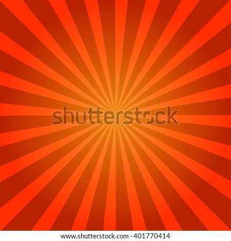 Sunburst  Retro red. Vector illustration - stock vector