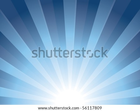 Sunburst vector background - stock vector