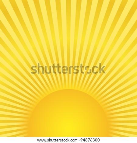 Sunburst, vector eps10 illustration - stock vector