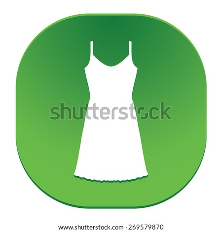 Sundress, Evening dress, combination or nightie, the silhouette. Menu item in the web design. - stock vector