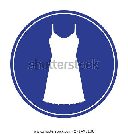 Sundress, Evening dress, combination or nightie, the silhouette. Menu item in the web design - stock vector