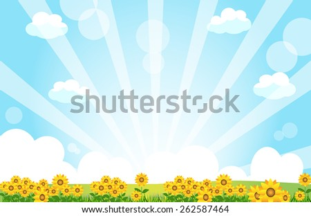 sunflower - stock vector