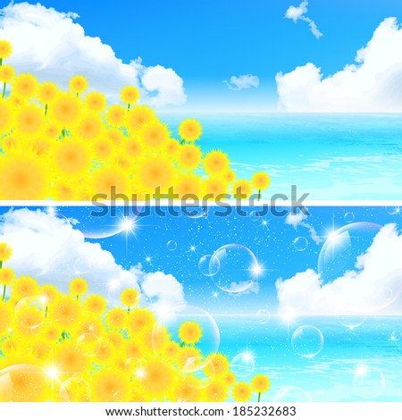 Sunflower sky landscape