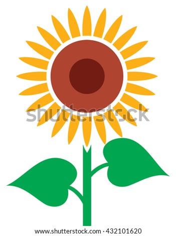 sunflower vector illustration stock vector 432101620 shutterstock rh shutterstock com sunflower vector clip art sunflower vector watercolor