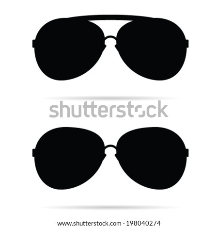 sunglasses black vector illustration - stock vector