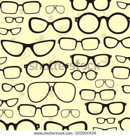 sunglasses collection - vector - stock vector