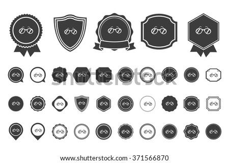 sunglasses icon - stock vector