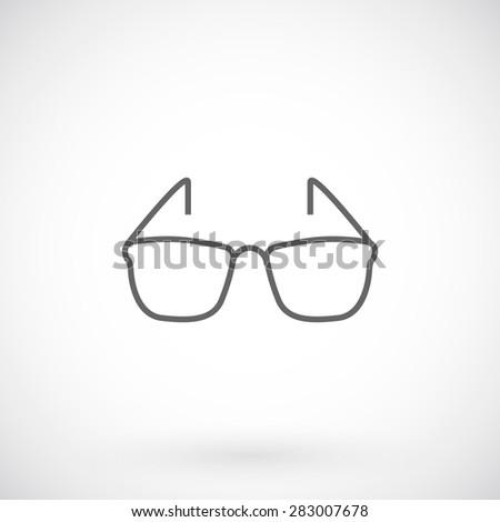 Sunglasses icon, thin line style. - stock vector